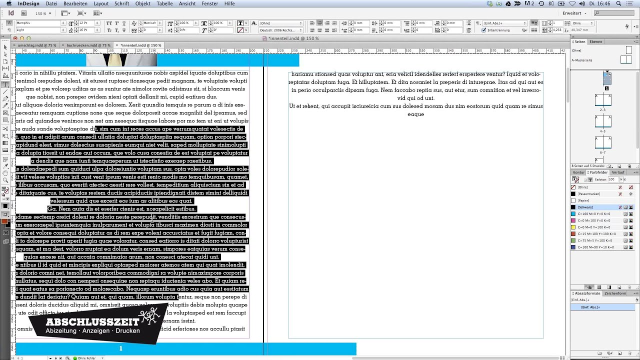 abizeitung erstellen layout text a bersatz youtube