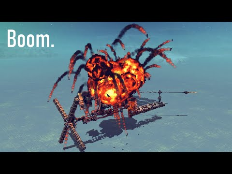Making a Bomb Powered Engine in Besiege