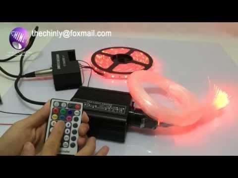 CREE chip DMX 16W RGBW twinkle LED Fiber Optic Star Ceiling Lights Kit+12V led strip - YouTube & CREE chip DMX 16W RGBW twinkle LED Fiber Optic Star Ceiling Lights ...