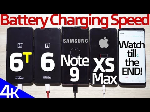 OnePlus 6T vs iPhone XS Max vs Note 9 vs OP6 Battery Charging SPEED TEST! (Surprising End)🔥🔥🔥