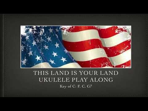 This Land Is Your Land Ukulele Play Along Youtube