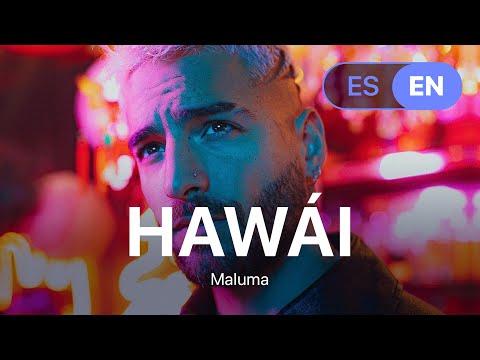 Maluma - Hawái (Lyrics / Letra English \u0026 Spanish)