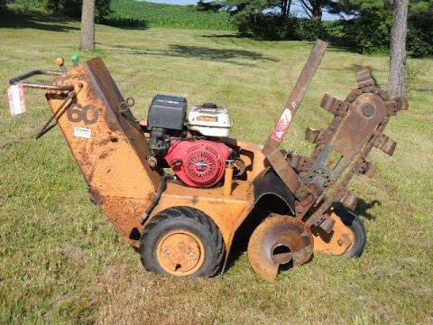 Trencher For Sale >> Case, model 60 walk-behind trencher | For Sale | Online Auction - YouTube