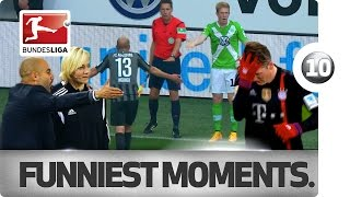 Top 10 - The Funniest Moments of the Bundesliga Season so far!