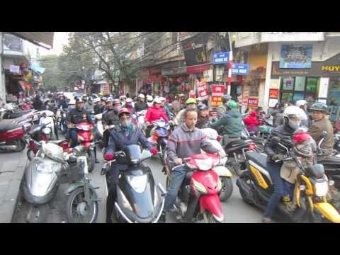 Het verkeer in Hanoi