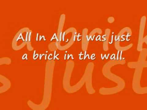 Popular Videos - Another Brick in the Wall, Part 1 & Lyrics