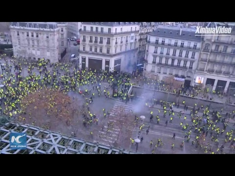"LIVE: ""Yellow Vest"" protests continue in Paris, France"