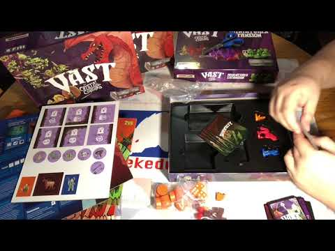 Vast crystal caverns  fearsome foes expansion unboxing