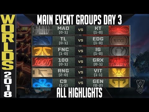 LoL Worlds 2018 Day 3 Highlights ALL GAMES - Main event Grou