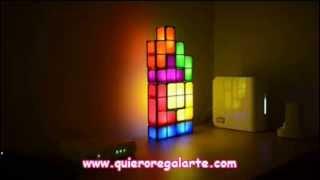 Lámpara tetris. Regalos originales quieroregalarte