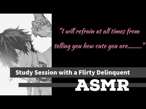 [ASMR] Study Session With A Flirty Delinquent