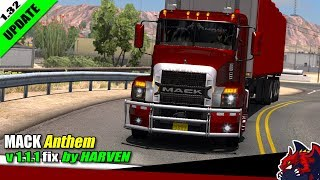 "[""American Truck Simulator"", ""truck mod"", ""MACK Anthem"", ""by Harven""]"