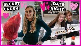 SECRET CRUSH GAVE HER FLOWERS & ROMANTIC DATE NIGHT!!