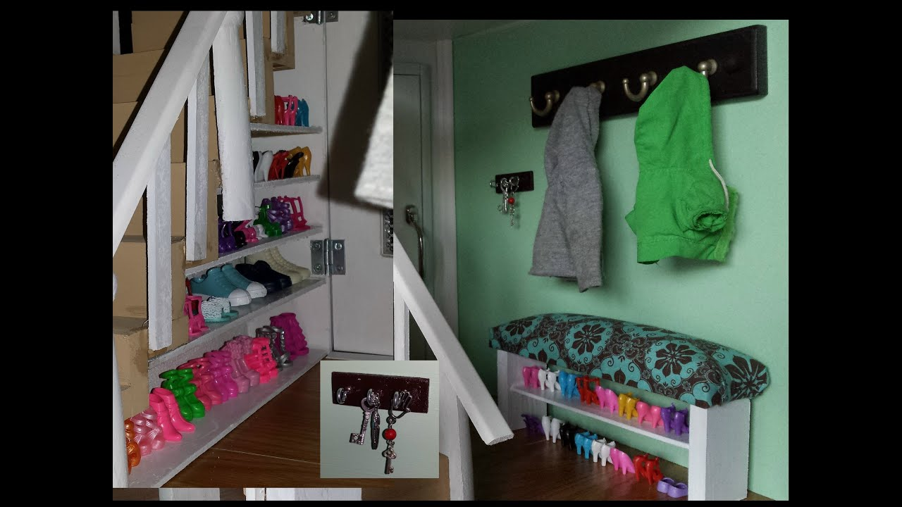 How To Make A Doll House Entrance Youtube