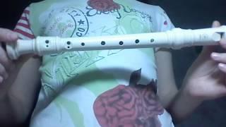 Игра на блок флейте урок 1