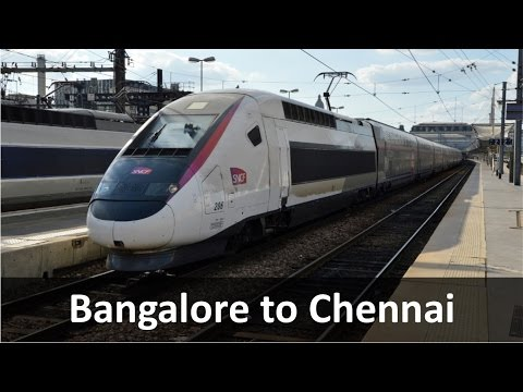 Bangalore to Chennai Bullet Train