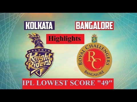 IPL 2017 Highlights, KKR Vs RCB: Lowest Ever Score ...