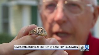 80 years later, class ring found at bottom of lake