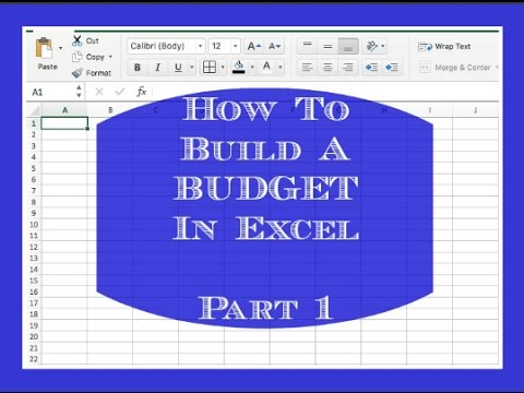 how to build a budget in excel part 1 youtube