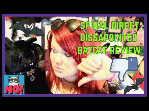 Disappointed Spiral Direct BatCat Review - Misshapen Plush