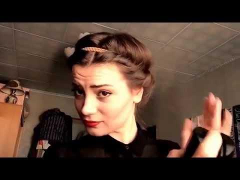 Видеоурок: Кудри с помощью резинки-ободка