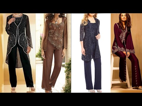 elegant-and-stylish-mother-of-bride-wedding-dress-collection-jacket-pant-suit-for-ladies