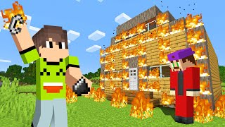 I SET His HOUSE On FIRE In MINECRAFT! (Revenge Troll)