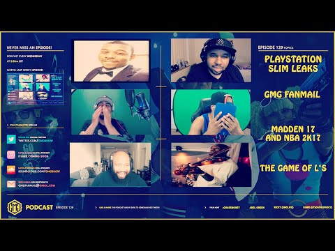 GMG SHOW LIVE 129 - PS SLIM LEAKS, PS PLUS PRICE, MADDEN 17, NBA 2K17, THE GAME OF L'S (News)