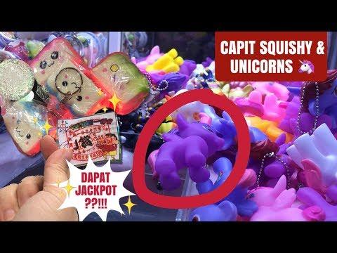 CAPIT SQUISHY & LITTLE PONY | MAIN BOLA MISTERI DAPAT JACKPOT??!! CLAW MACHINE | 夾娃娃