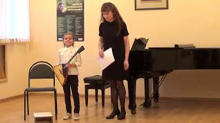 Настя Тюрина 7 лет Выступление на фестивале А.Архиповского