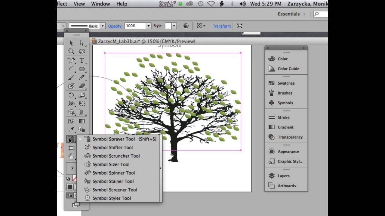 Adobe Illustrator Cs6 Part 2 Symbols Youtube