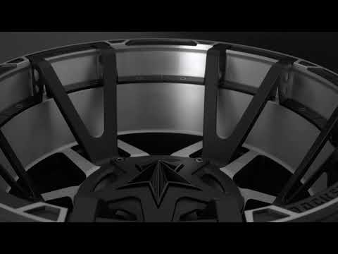 XD827 Matte Black Machined Split Spoke