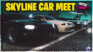 THE ULTIMATE NISSAN SKYLINE CAR MEET!! | Need For Speed Heat
