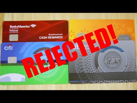 Rejected For New Credit Card With Credit Score