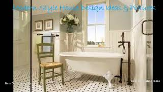 Bathroom design ideas with wainscoting | Stylish washroom & showering area picture