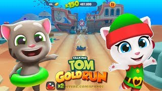 Talking Tom Gold Run - Talking Tom & Elf Angela in Undersea World