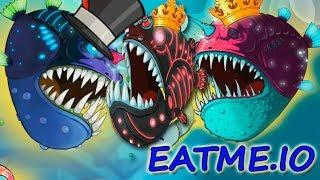 3 ЭВОЛЮЦИИ и Все СКИНЫ РЫБЫ УДИЛЬЩИКА - Eatme.io: Hungry fish fun game \ скоро Новая рыбка дельфин