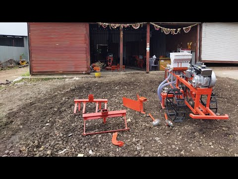 🇮🇳Indian Agro industries Moshi Pune Power tiller Weeder cultivator seed drill पावर टिलर पेरणीयंत्र