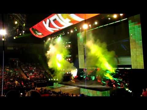 Kofi Kingston's entrance LIVE