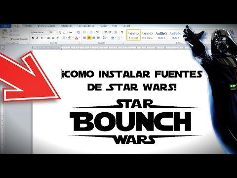 Como Instalar Fuentes de Star Wars en tu PC !! Bounch15
