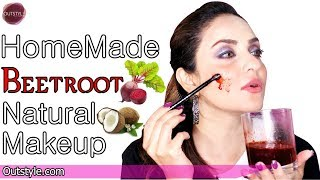 Homemade DIY Makeup Hack Every Girl Should Know   Beetroot Coconut Natural Oil Makeup Desi Skin Tone