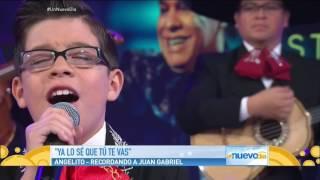 Niño Le Rinde Tributo a  Juan Gabriel - Un Nuevo Dia -Angelito Garcia