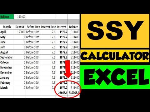SSY Calculator| SSY Interest Calculation with SSY Interest Rate| Sukanya Samriddhi Yojana