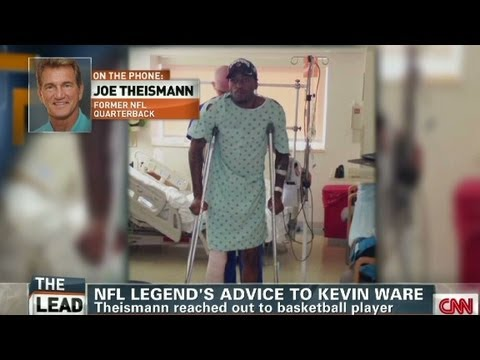 Frmr Redskin Joe Theismann gives advice to Kevin Ware