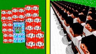 1000 ЯРИК ЛАП ПРОТИВ СПИРАЛИ ИЗ ЛАКИ БЛОКОВ | НУБ НЕВИДИМКА ПРОТИВ ЯРИКА ЛАПЫ | ЛАКИ БЛОК БОСС БИТВА