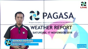 Public Weather Forecast Issued at 5:00 PM November 17, 2018