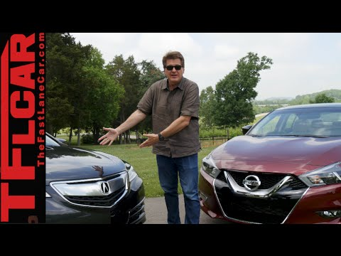 2016 Nissan Maxima Vs Acura TLX Mashup Review: The 4-Door Sports Car Is...