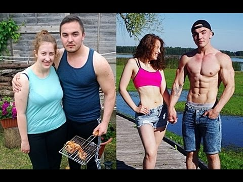 Thumbnail: Couple 1 Year Transformation - Fitness, Powerlifting, Bodybuilding