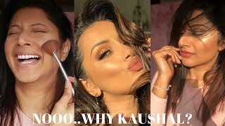 I TRIED FOLLOWING A KAUSHAL BEAUTY MAKEUP TUTORIAL ON ACNE SKIN | EPIC FAIL? GOLDEN HOUR GOLD MAKEUP