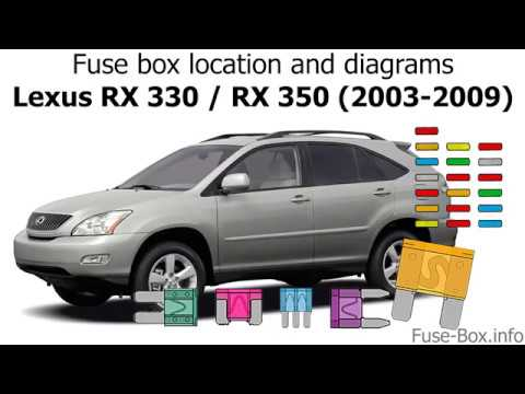 Fuse box location and diagrams: Lexus RX330 / RX350 (2003-2009) - YouTubeYouTube